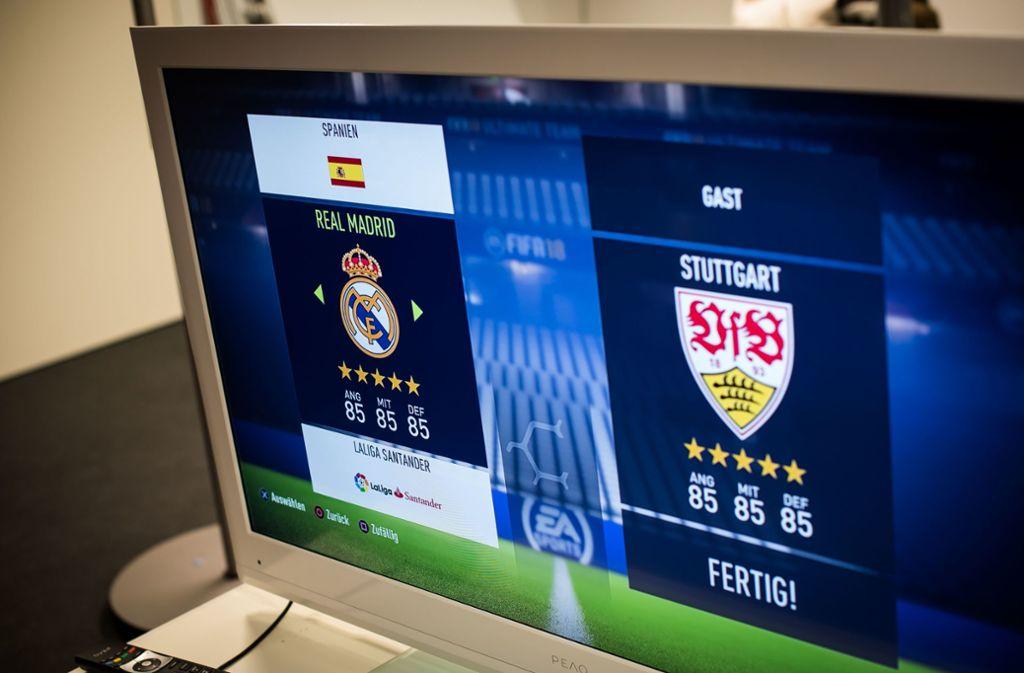 Die Abteilung eSport des VfB Stuttgart veranstaltet ein Fifa-Turnier. Foto: Lichtgut/Max Kovalenko/Lichtgut/Max Kovalenko