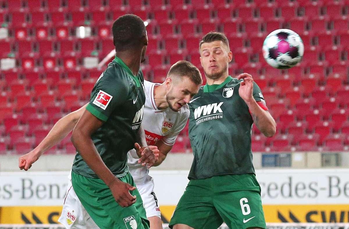 Der VfB Stuttgart hat die Partie gegen den FC Augsburg gewonnen. Foto: Pressefoto Baumann