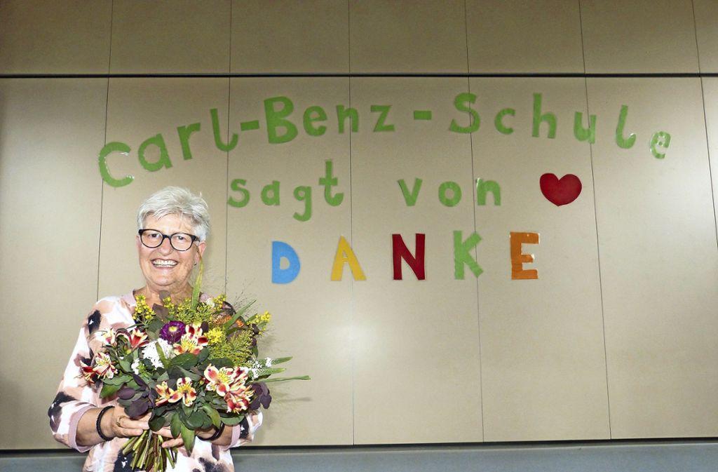 Ingrid Vanek bei ihrer Verabschiedung. Foto: