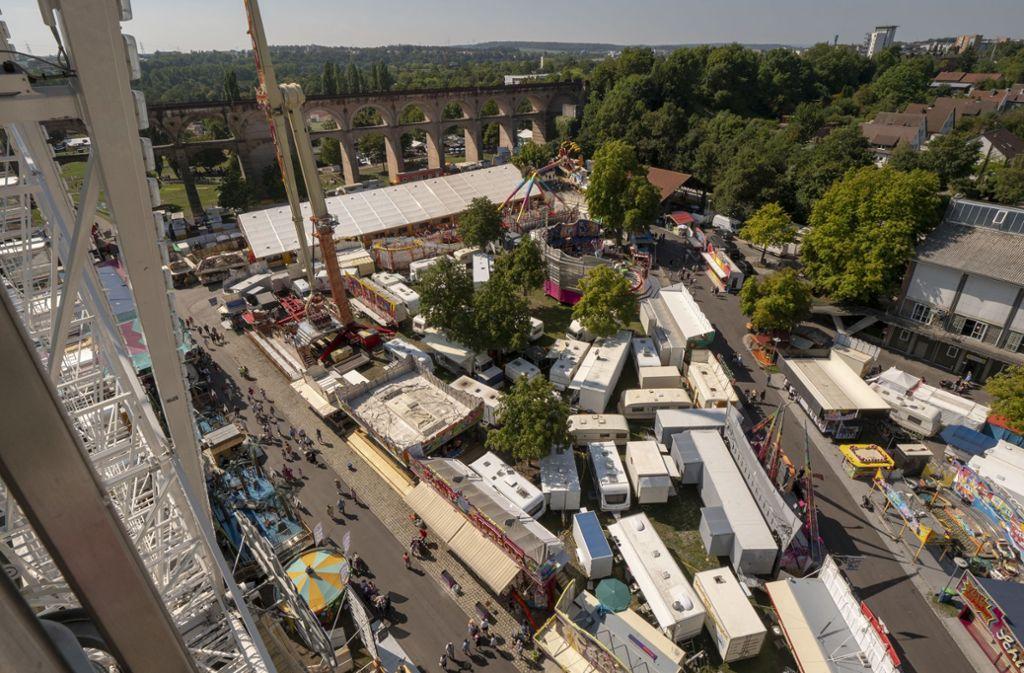 Die Schausteller werden dieses Jahr nicht unter dem Viadukt in Bietigheim-Bissingen aufschlagen. Foto: factum/Andreas Weise