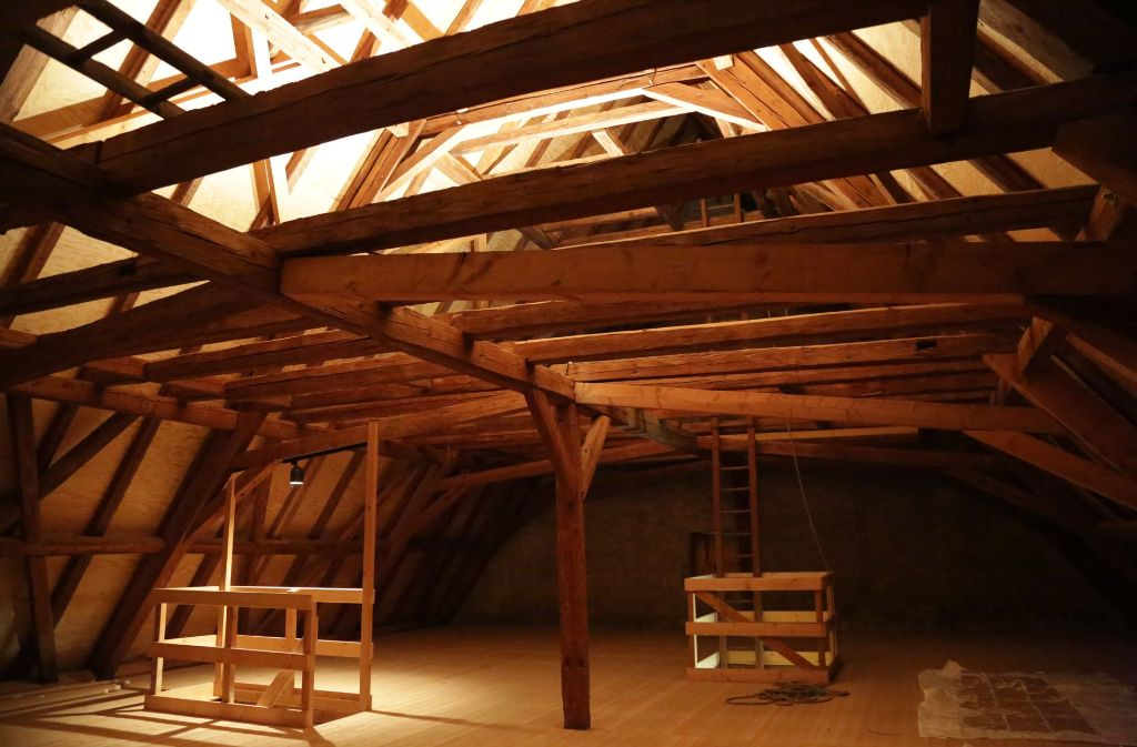 Idylle aus Holz: Der Dachstock der Zehntscheuer des Konstanzer Pfleghofs. Foto: Patricia Sigerist