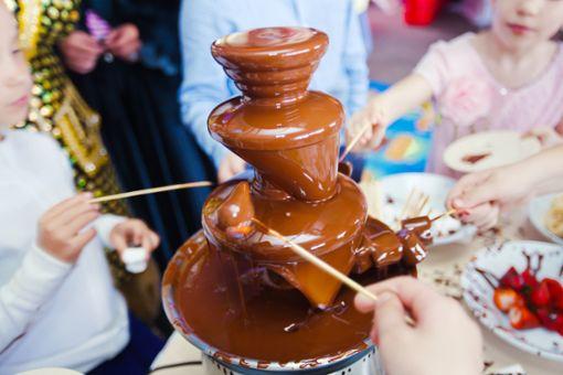 Welche Schokolade kommt in den Schokobrunnen?