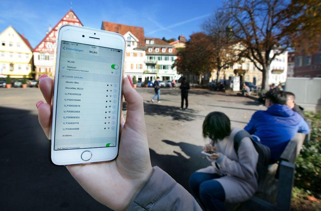 Auf dem Esslinger Marktplatz soll es einen Hotspot geben. Foto: Horst Rudel