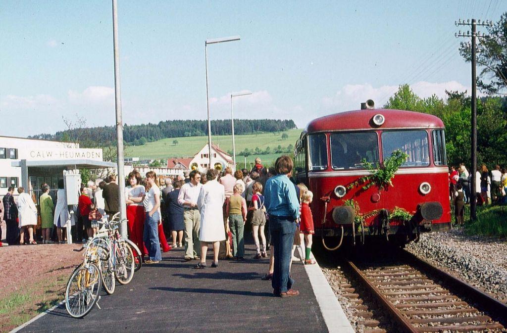 Am 27. Mai 1983 fuhr der letzte Diesel-Schienenbus nach Calw. Foto: Archiv