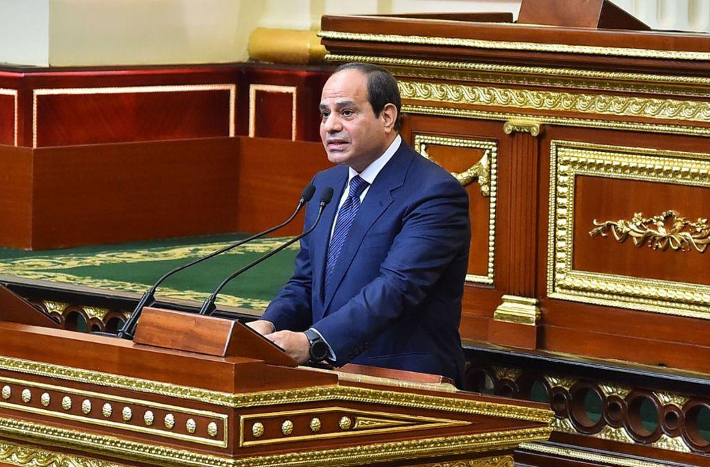 Regiert mit eiserner Hand: Ägyptens Staatschef Abdel Fatah al-Sisi Foto: AFP
