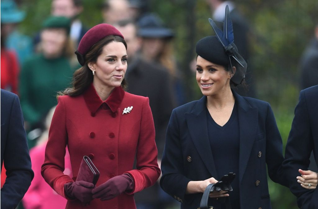 Perfekt gestylt zeigten sich Meghan und Kate im vergangenen Dezember. Foto: dpa