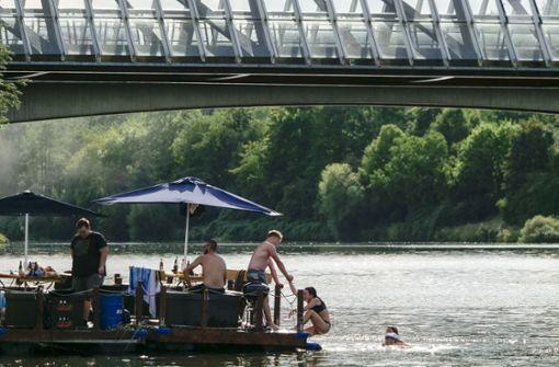 Remseck verbietet Baden am Neckarstrand