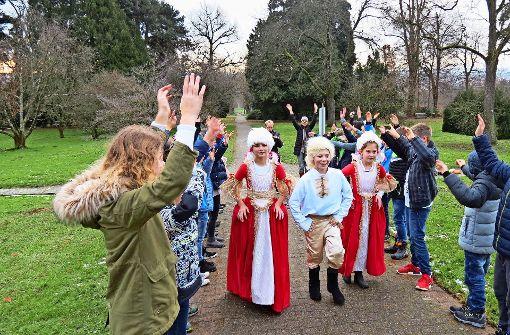 Schüler feiern den Geburtstag von Händel