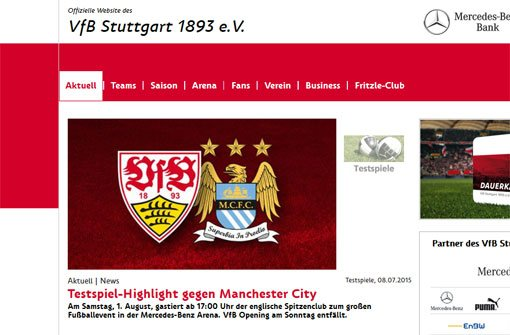 Der VfB empfängt Manchester City
