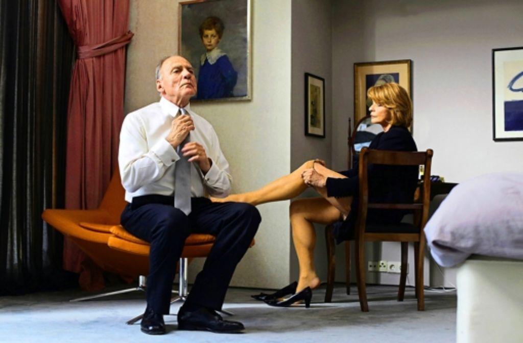 Der Krebs bringt sie auseinander: Bruno Ganz und Senta Berger. Foto: Unafilm