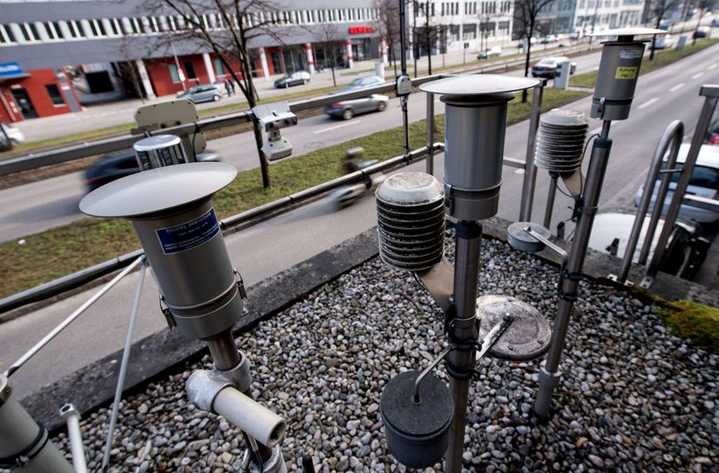 So sieht das Ganze in München aus: Die Werte an der Landshuter Allee sind erheblich gesunken. Foto: dpa