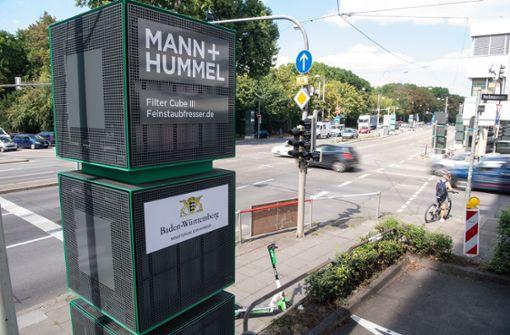 Luftfiltersäulen in Stuttgart zeigen laut Studie Wirkung