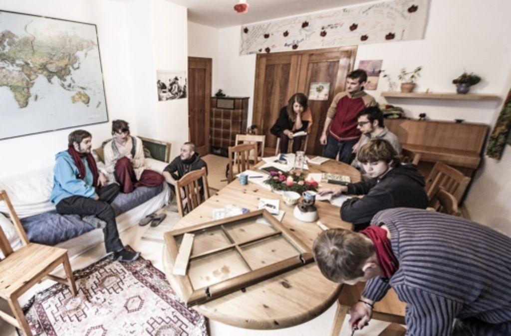 In der Stuttgarter Schellbergstraße tüfteln Studenten an ihrem Bildungssystem. Foto: Reiner