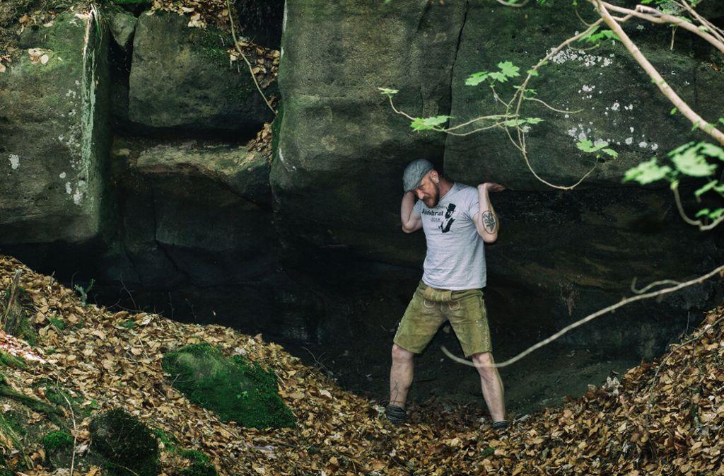 Sven Vollbrecht und hofft auf Mitbewerber auf den Waldschrat-Titel. Foto: Gerald Markert