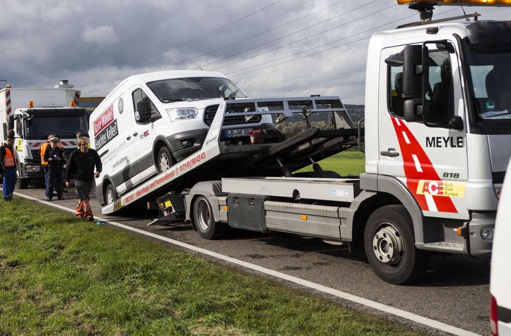 Der Schaden des Unfalls beläuft sich auf knapp 62000 Euro. Foto: 7aktuell.de/Jochen Buddrick