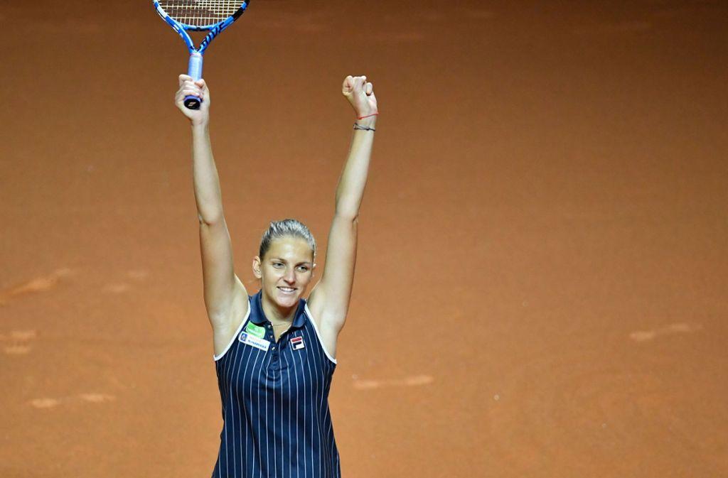Karolina Pliskova gewinnt in Stuttgart. Foto: AFP