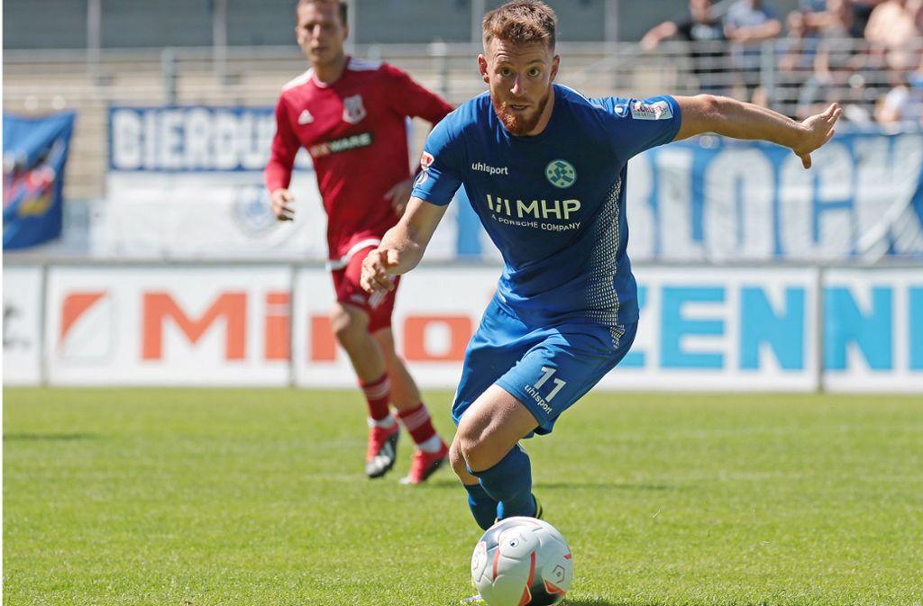 Michael Klauß und die Stuttgarter Kickers haben schwere Aufgaben vor sich. Foto: Pressefoto Baumann