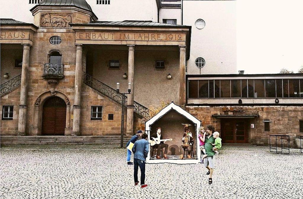 """So könnte das """"Übehaus"""" vor dem Siegle-Haus aussehen. Foto:"""