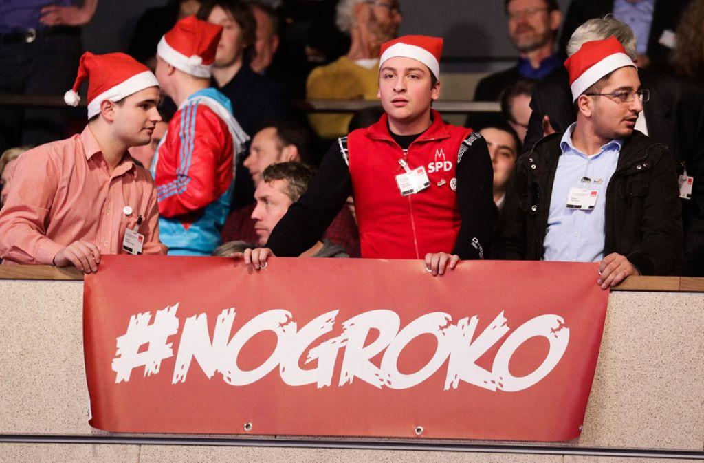 Die Diskussion über die Groko spaltet die SPD. Foto: dpa
