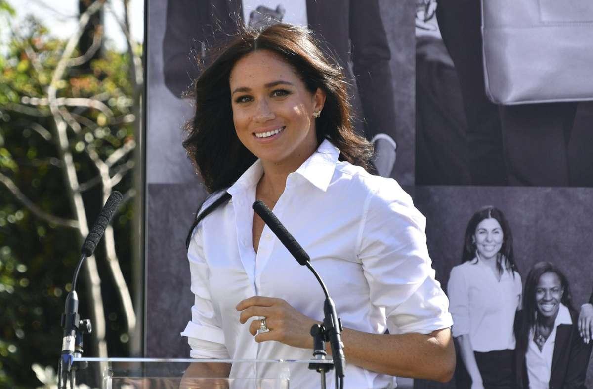 Meghan Markle hat sich in ihrer Zeit  als Royal für Gleichberechtigung stark gemacht. (Archivbild) Foto: AP/Mark Large