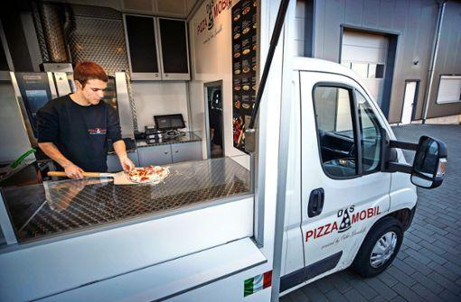 Die Pizza wird erst beim Kunden gebacken
