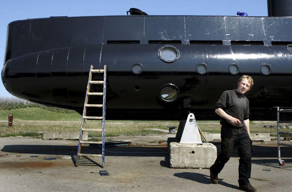 Der Erfinder Peter Madsen vor einem U-Boot. Foto: Ritzau Foto