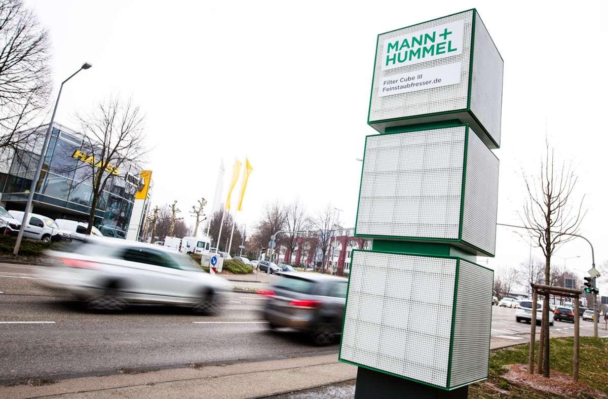 Spezialist für Filter, auch  gegen Feinstaub: Mann+Hummel Foto: picture alliance/dpa/Christoph Schmidt