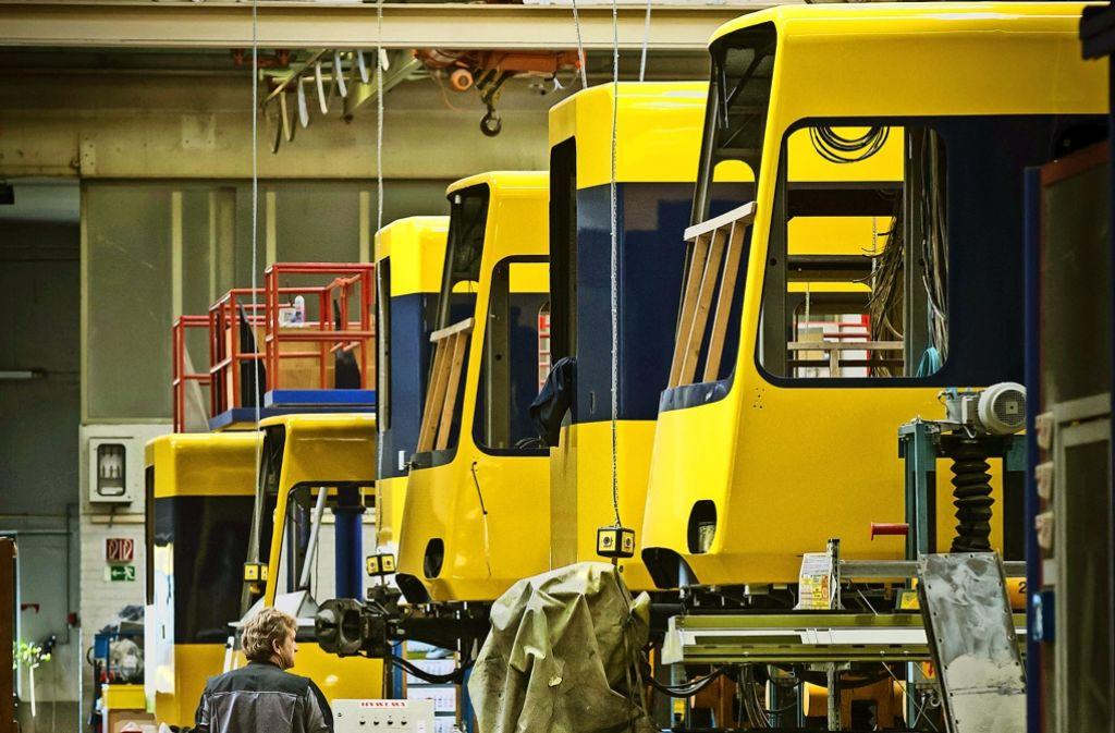 Die SSB haben viele Stadtbahnen überholt,   um Geld zu sparen. Foto: Lichtgut/Achim Zweygarth