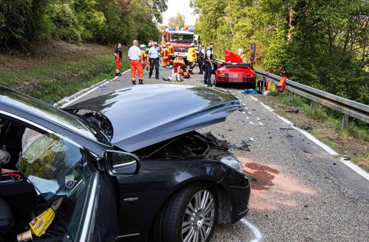 Der Fahrer des Porsche verstarb im Krankenhaus. Foto: 7aktuell.de/JB