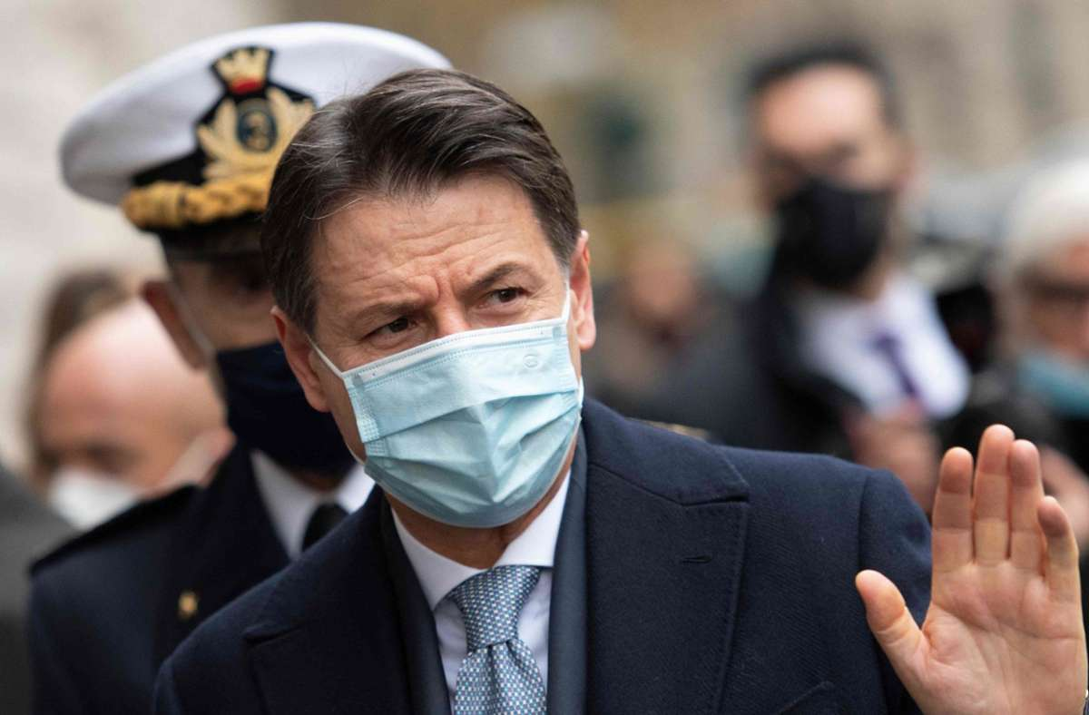 Italiens Ministerpräsident Giuseppe Conte kämpft um sein politisches Überleben. Foto: AFP/ALBERTO PIZZOLI