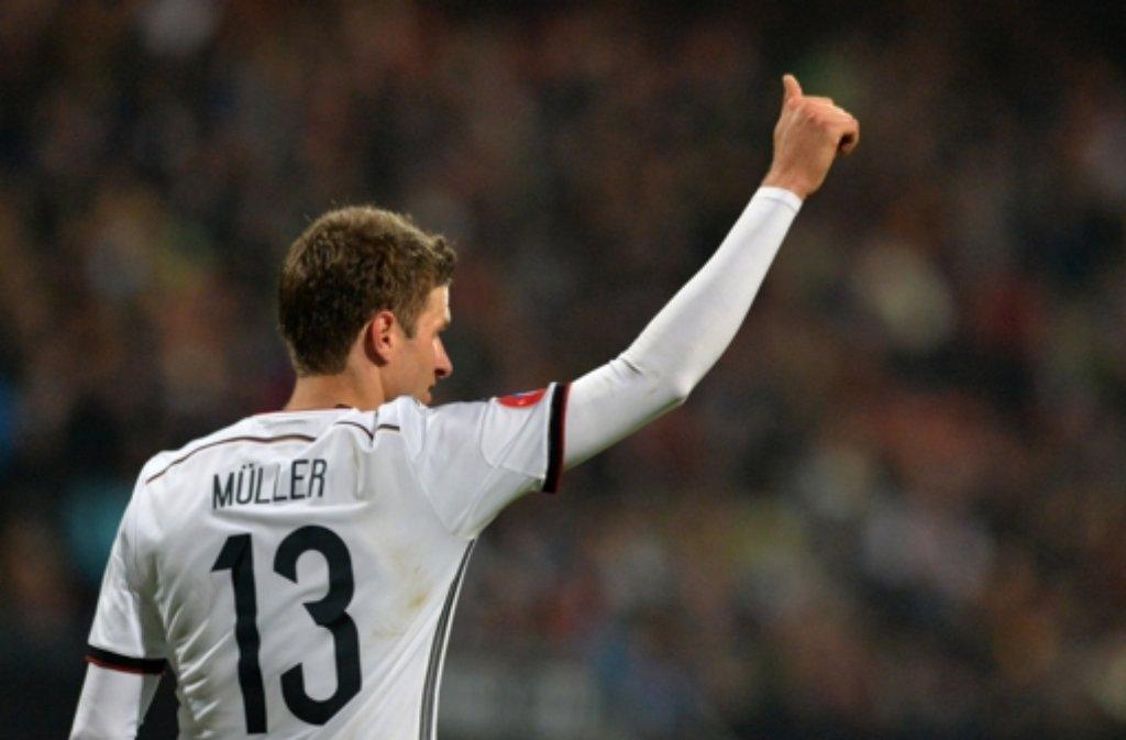 Thomas Müller trägt die Rückennummer 13. Foto: dpa
