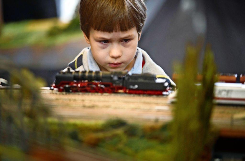 Die  Eisenbahn fasziniert – vor allem kleine und große Männer. Foto: Gottfried Stoppel