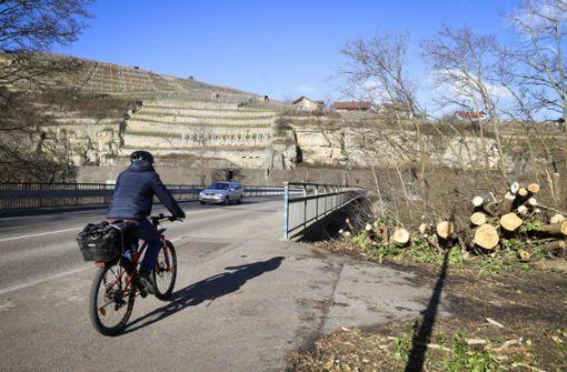 An der Enzbrücke wird 18 Monate lang gebaut