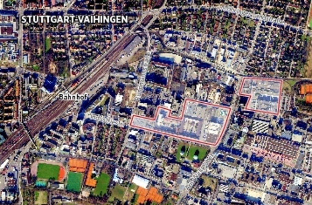 Auf diesem Luftbild ist erkennbar, wo die Areale liegen, die es künftig neu zu nutzen gibt. Foto: Rüdiger Ott