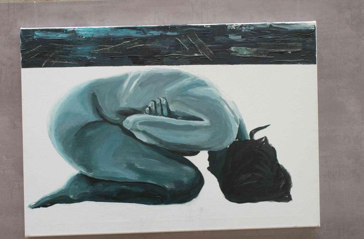 Dieses Werk hat die Künstlerin Silke Remmert zu der Aktion beigetragen. Foto: Silke Remmert/Kirchengemeinde Dagersheim/Darmsheim