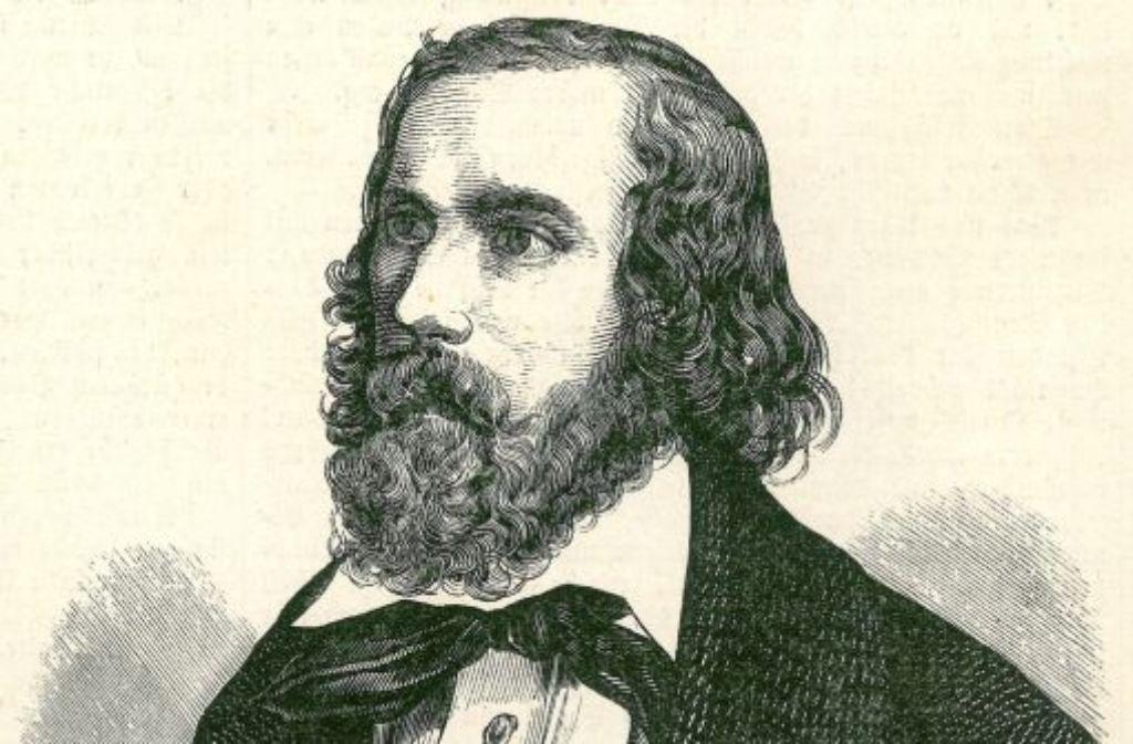 Der Schwarz-Weiß-Stich aus der ´Illustrierten Chronik», Jahrgang 1848 zeigt den Revolutionär Friedrich Hecker. Foto: dpa