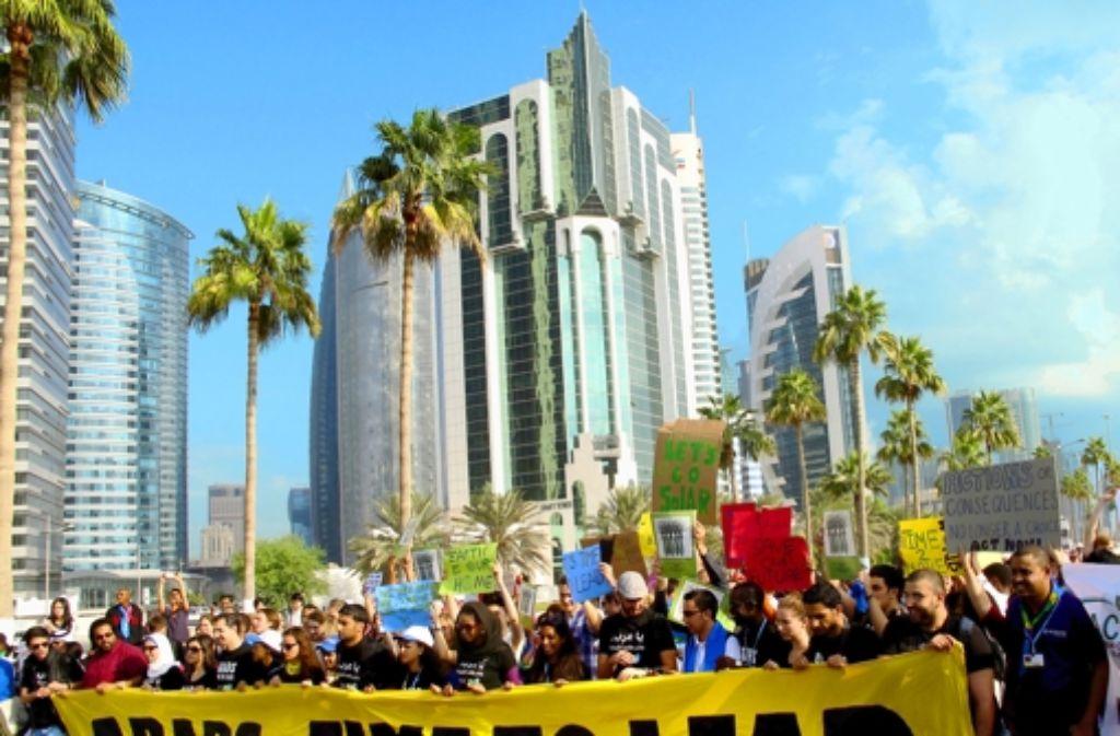 Zum ersten Mal gehen einige arabische Jugendliche für den Klimaschutz auf die Straße. Foto: dpa