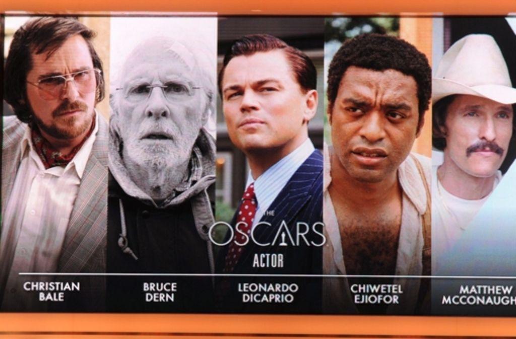 """Christian Bale ist für """"American Hustle"""" als bester Darsteller nominiert. Bei der Konkurrenz wird das aber kein  leichter Weg zum Oscar  für ihn. Foto: AFP"""