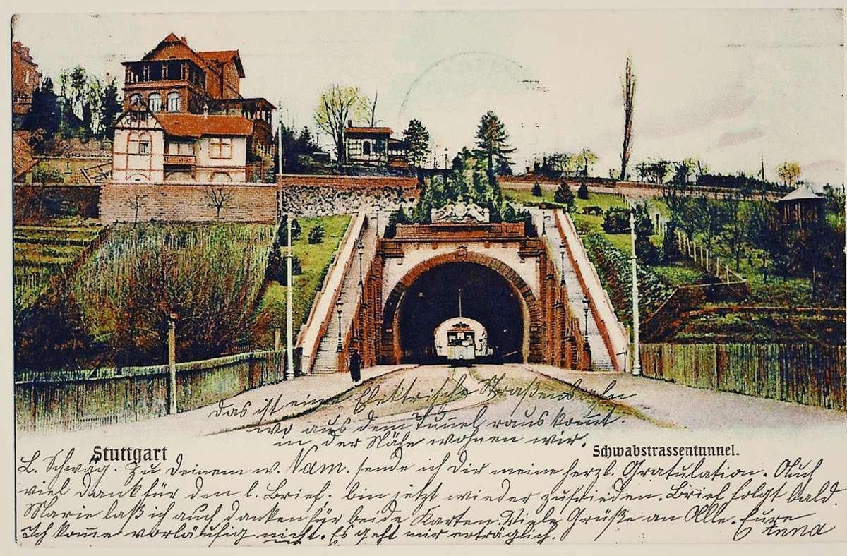 Der Schwabstraßentunnel, wie er korrekt heißt, vor über 100 Jahren. Foto: Sammlung Wibke Wieczorek/ SSB/ StZ-Archiv