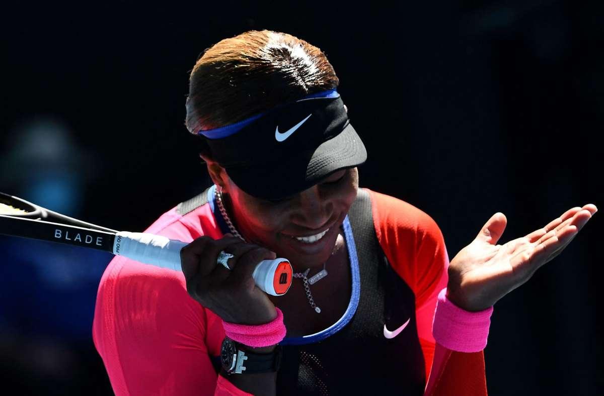 Serena Williams ist bei den Australian Open im Halbfinale gescheitert. Foto: AFP/WILLIAM WEST