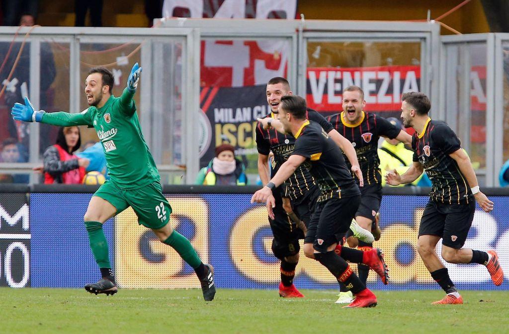 Nie erlebte Glücksgefühle in der Seria A beim abgeschlagenen Tabellenletzten Benevento. Foto: ANSA