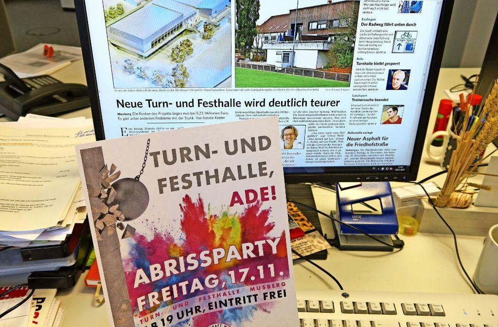 Die Musberger Dorfgemeinschaft feiert am Freitag ein letztes Mal in ihrer Turn- und Festhalle. Sie lädt zur Abrissparty Foto: Malte Klein