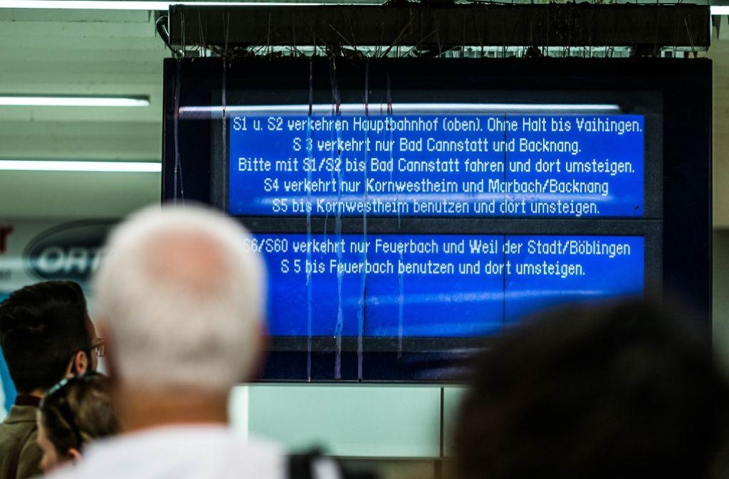 Das Informationsangebot im S-Bahn-Störungsfall wird kritisiert. Foto: Lichtgut/Max Kovalenko
