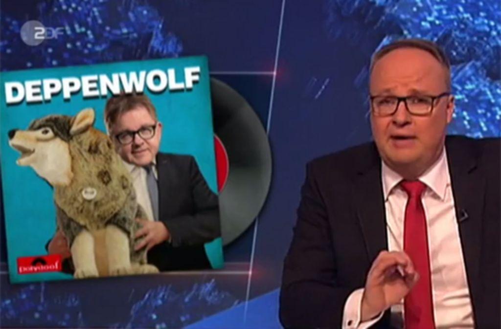 Oliver Welke macht Guido Wolf in der Heute Show zum Deppenwolf. Foto: ZDF