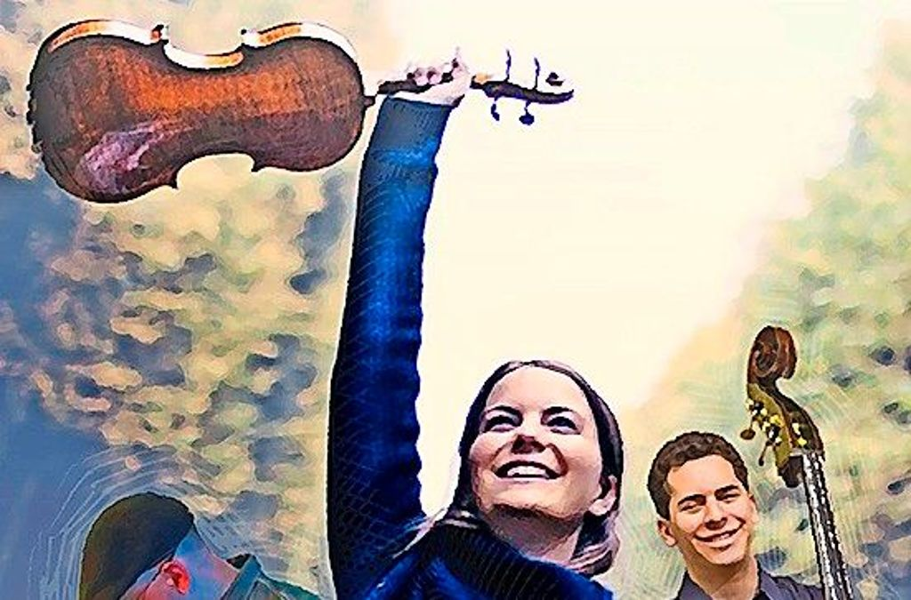 Violinistin Veronika Eberle, Kontrabassist Edicson Ruiz und Perkussionist Gonzalo Grau sind das Ensemble RUMBAch. Foto: Veranstalter