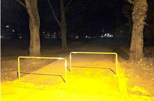 Im Kurpark ist es nachts zappenduster
