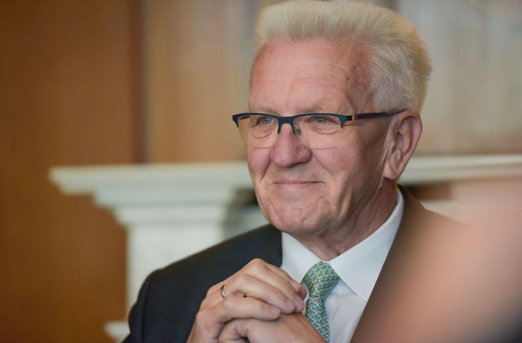 Ministerpräsident Winfried Kretschmann ist überzeugt von dem Entwurf. Foto: Lichtgut/Max Kovalenko