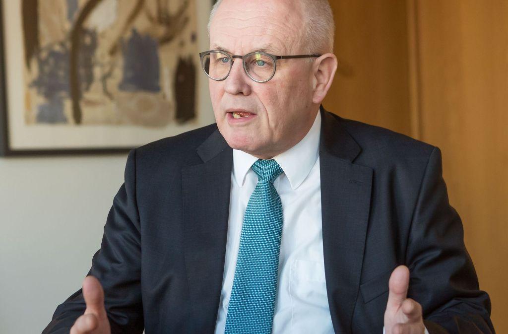 Bestens befreundet, aber doch zwei Parteien - Volker Kauder, der Unionsfraktionschef im Bundestag,  betont im Interview mit unserer Zeitung die Unterschiede zur CSU. Foto: Georg Moritz
