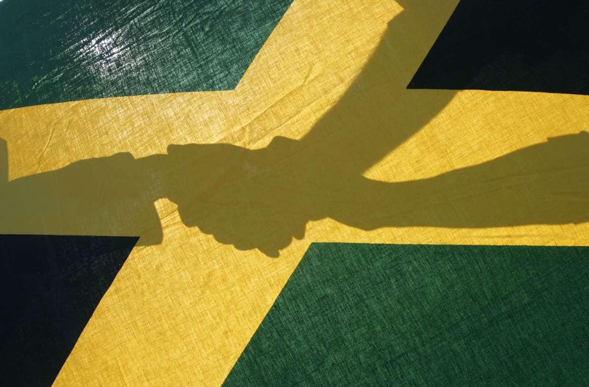 Schwarz, gelb und grün – das sind die Flaggenfarben Jamaikas. Foto: dpa/Frank Rumpenhorst