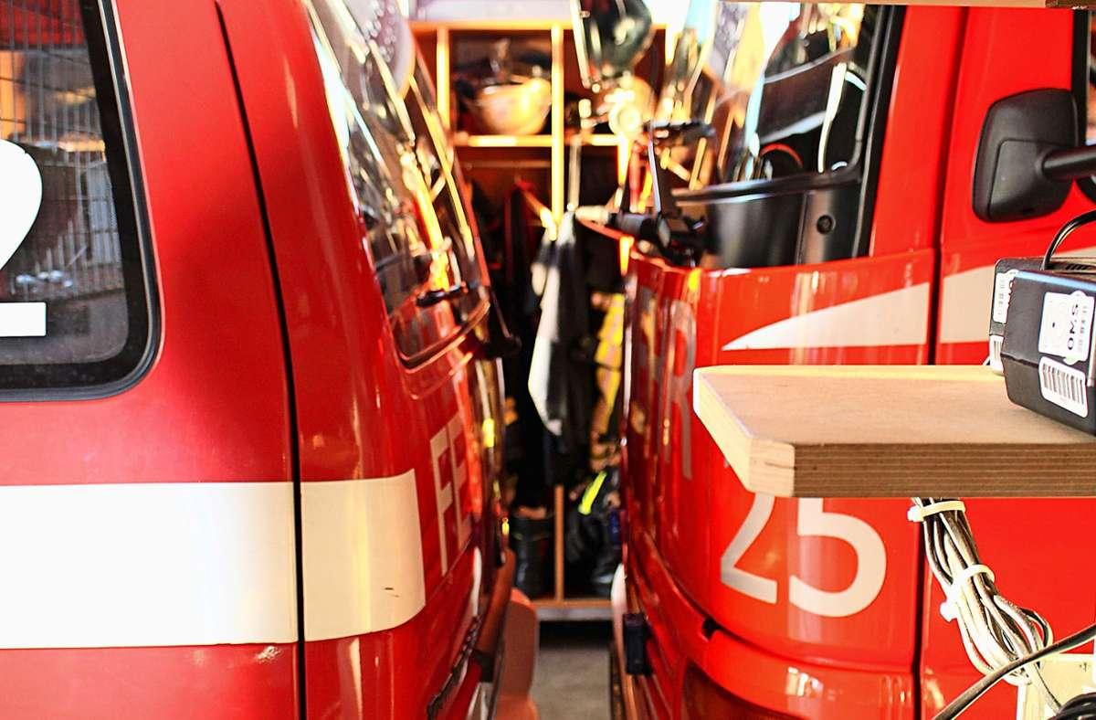 Im Feuerwehrhaus in Sillenbuch geht es ehr eng zu. Foto: Caroline Holowiecki